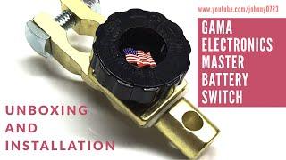 Gama Electronics Master Battery Switch, kill switch