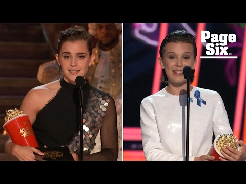 Sorry, boys! Emma Watson and Millie Bobby Brown are MTV's 'Best Actors' | Page Six