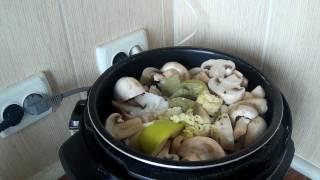 Маринованные грибы в мультиварке Redmond 4506,или как быстро замариновать грибы