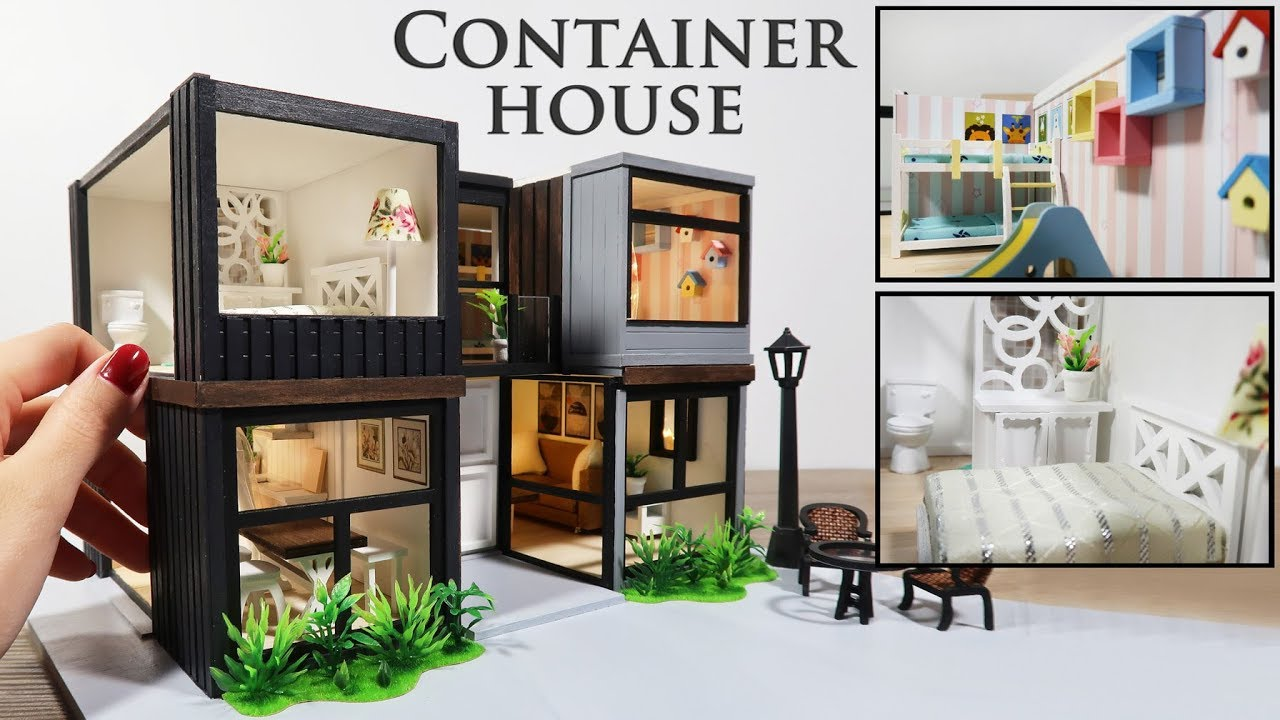 DIY Miniature - Modern Container House - YouTube