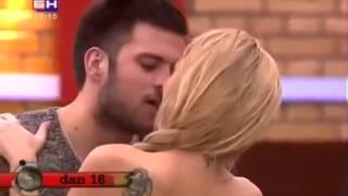 Ava Karabatić i Željko - poljubac - Veliki Brat VIP 5