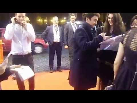 George Blagden at Rome Fiction Fest Red Carpet
