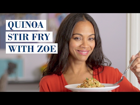 Quinoa Stir Fry with Zoe Saldana | My Family Recipe