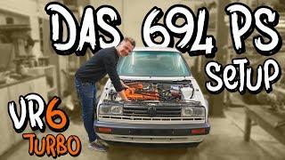 Das alte 694 PS Setup von Marius!  - VW Golf 2 VR6 Turbo Folge 3 | Philipp Kaess |