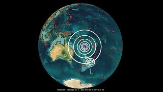 11/19/2017 -- Large M7.0 (M6.9) Earthquake strikes West Pacific -- New week of global unrest coming