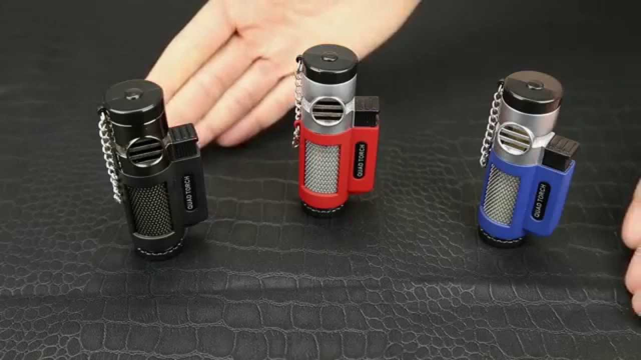 Quad Force Red Torch Lighter - YouTube for Torch Lighter Refill  570bof
