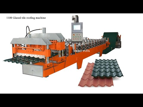 European market step tile glazed panel roll forming machine