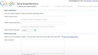 Google Site Search: Quick Tour