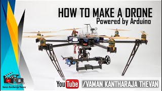 How to make a Drone | Powered By Arduiono | Timelaps | FPS DRONE | DRONE FRAME