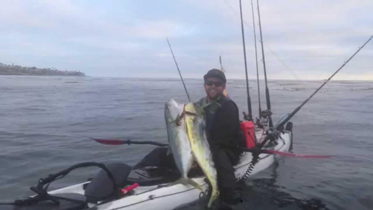 San diego kayak fishing dorado youtube for Youtube kayak fishing