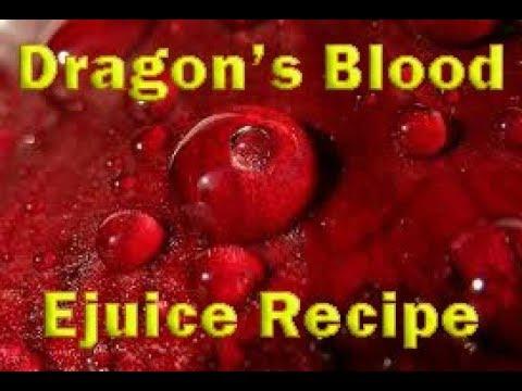 Dragon's Blood ejuice recipe   DIY ejuice mixing