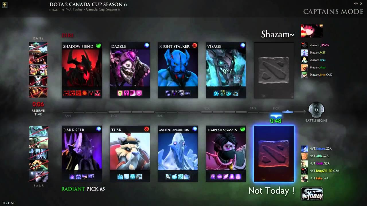 dota 2 canada cup season 6 group d shazam vs not today youtube