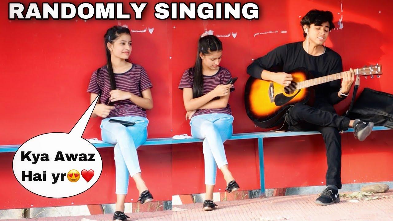 Heartbreak Mashup   Randomly Singing With Cute Girl In Public   Amazing Reactions   Jhopdi K