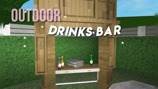 ROBLOX: bloxburg • outdoor drinks bar speed build!