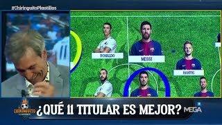 ¡IMPERDIBLE! Así REACCIONÓ 'Lobo' Carrasco cuando Duro dijo que Cristiano es mejor que Messi