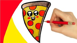 HOW TO DRAW A PIZZA  - DIBUJAR PIZZA