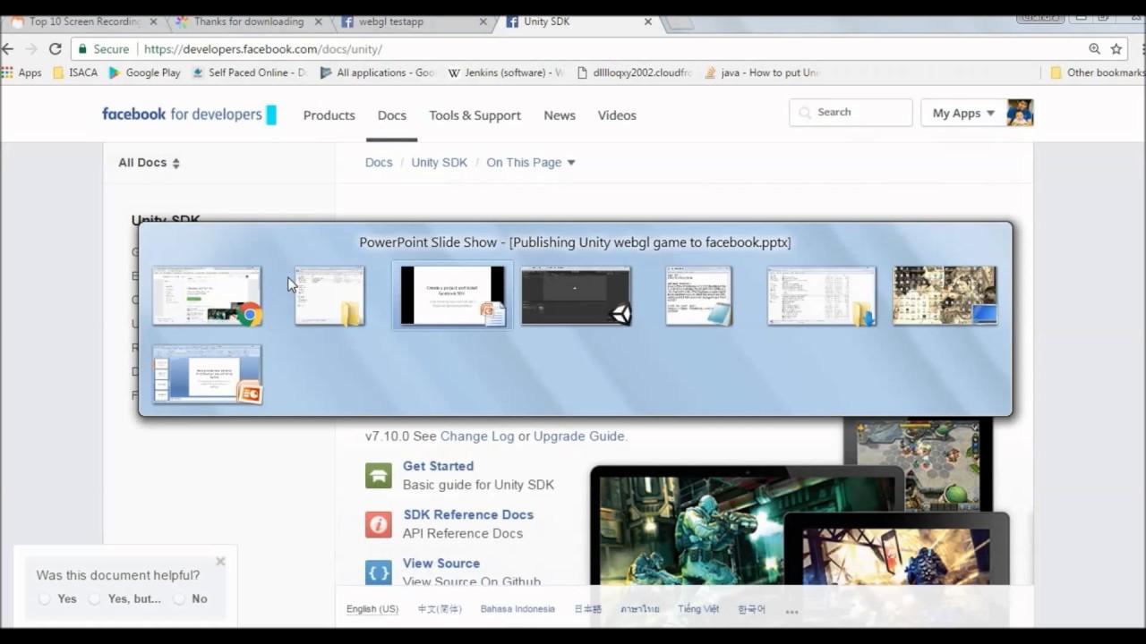 Publish Unity3d App as webgl build to Facebook