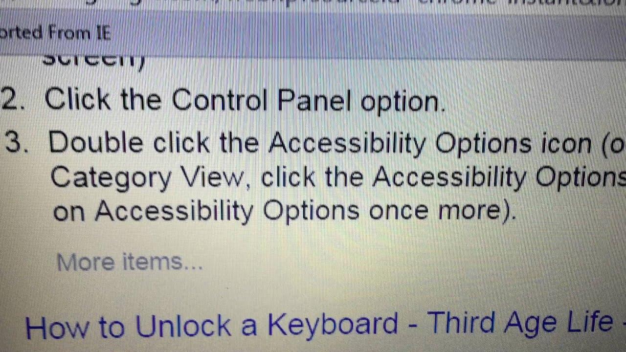 Locked Keyboard On Laptop