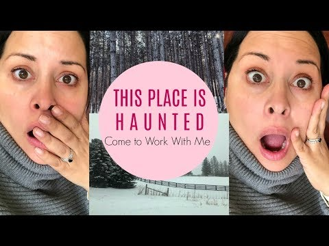 This place is haunted | Come to work with me. Real Estate Vlog