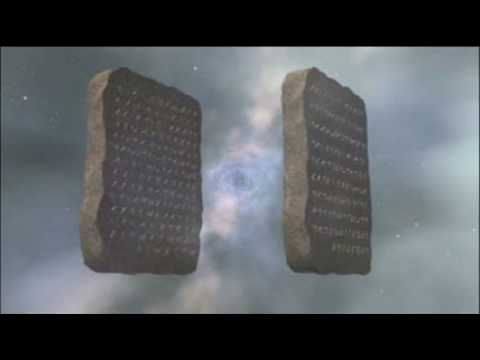Creation Of The Two Stone Tablets Of The Ten Commandments In The Mind Of God