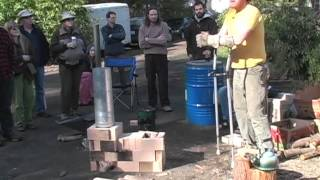 Rocket Stove Construction  Fire Science with Erica & Ernie Wisner