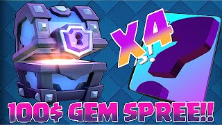 CLASH ROYALE SUCKS!! 100$ GEM SPREE