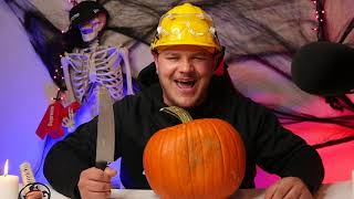 CARVING A HALLOWEEN PUMPKIN...a day late 🎃