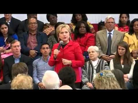 Hillary Clinton  at Manchester Community College in New Hampshire - FULL Speech ### 10-05-2015