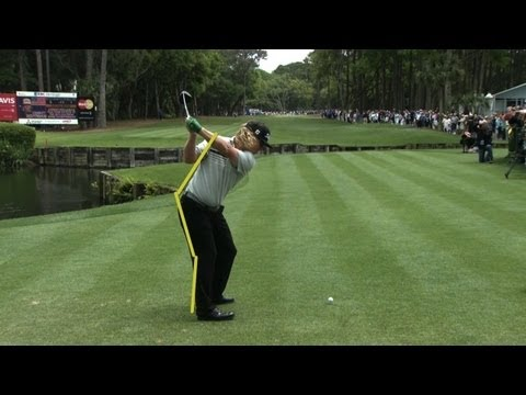 SwingVision: Charley Hoffman's tee shot Sunday at Travelers Championship