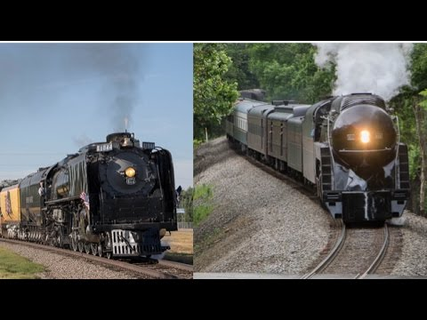 4-8-4s Take the Mainline: N&W 611 and UP 844