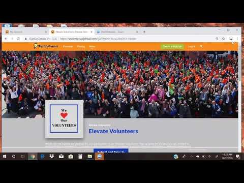 brief volunteer website overview scheduling volunteering signup