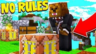 GLITCHED MECHANIZED LUCKY BLOCK SKY WARS *NO RULES*! - Modded Mini-Game | JeromeASF
