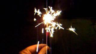 Sparklers....  Lightning Bolt Brand !  #8 Gold    ***DEMO***