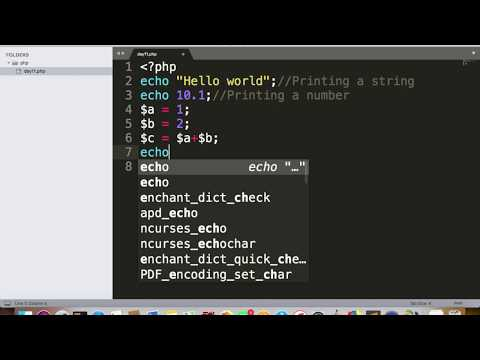 PHP - Day11 - Printing Hello World, Variable Assignment And Mathematical Operations