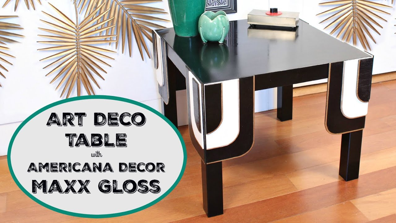Deco Table Ikea How To Art Deco Table Makeover Ikea Hack