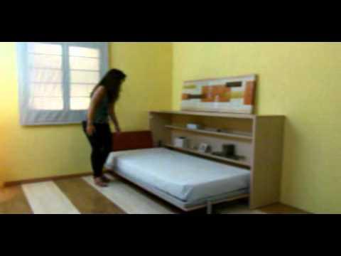 Cama abatible horizontal avatar pro de tocamadera youtube for Cama abatible horizontal