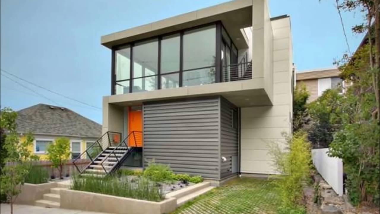 Tight House Design Outside View - YouTube