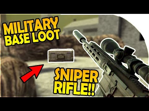 SNIPER RIFLE! - MILITARY BASE LOOT IS AMAZING! - 7 Days to Die Alpha 16 Gameplay Part 15