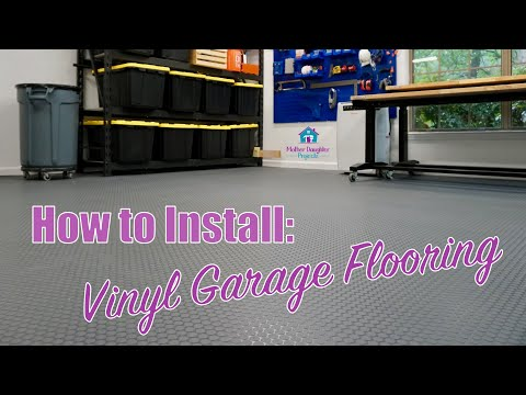 How to Install DIY Vinyl Garage Flooring