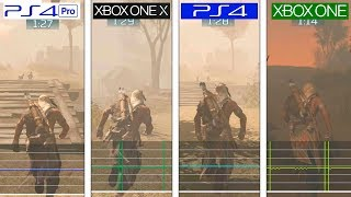 Assassin's Creed 3 Remastered | PS4 vs ONE vs ONE X vs PS4 Pro | Framerate Test | FPS Comparison