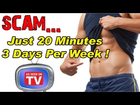Workout 20 minutes a day - 3 times per week
