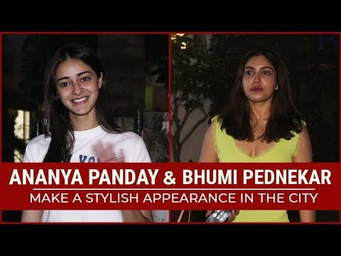 Pati Patni Aur Woh stars Ananya Panday and Bhumi Pednekar spotted at a salon Mp3