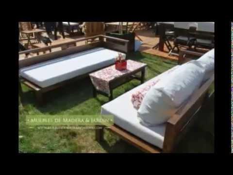 sillones para jardn muebles de madera y jardn com