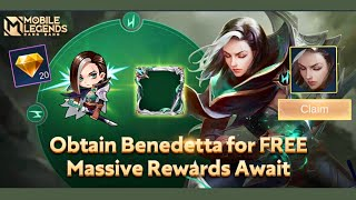 New Event 'Prelude to Benedetta's War | FREE HERO NATALIA or BATTLE POINT - Mobile Legends Bang Bang