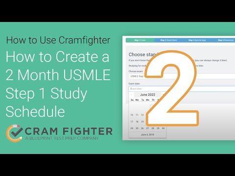 Sample USMLE study schedules - Cram Fighter