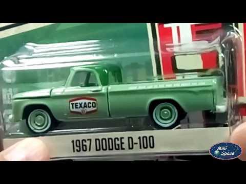 5021fe4275c9 Greenlight 1967 Dodge Pickup D100 logo Texaco 1/64