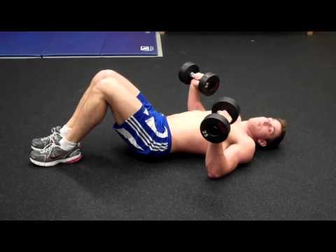 How To: Dumbbell Floor Press - YouTube