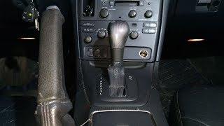 Вольво S60, S80. Снятие чехла ручки АКПП, ручника.