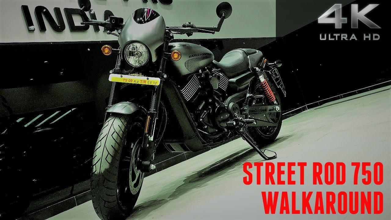 Harley Davidson Street Rod 750 Walkaround 4K UHD Exhaust