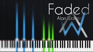 Faded - Alan Walker [Piano Tutorial] (Synthesia) // Zebeldarebel